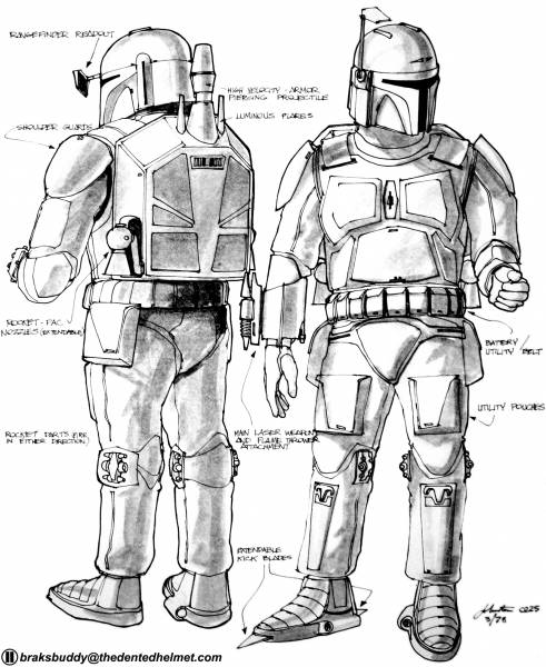 Boba Fett Joe Johnston Concept Art