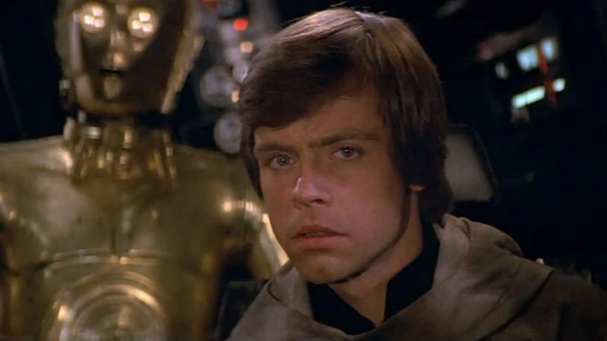 mark hamill as luke skywalker in star wars