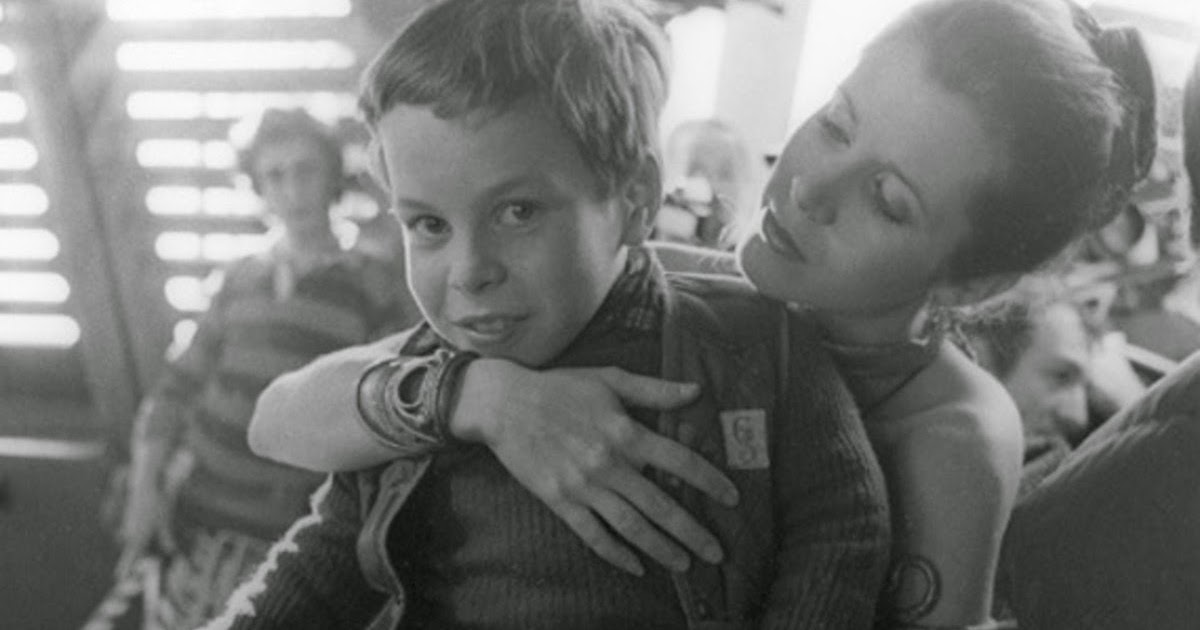 young warwick davis carrie fisher